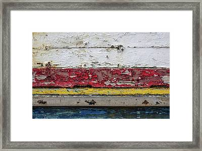 Surface With Peeling Paint Framed Print by Carlos Caetano