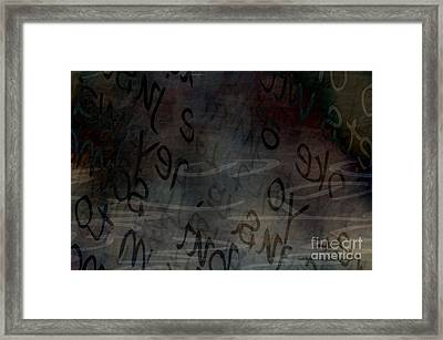 Surfacing Words Framed Print by Vicki Ferrari