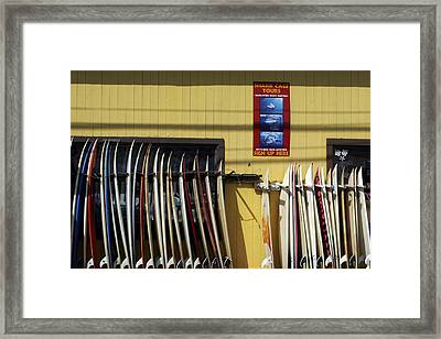 Surfboard Selection Framed Print