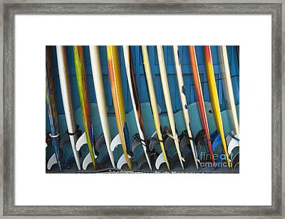 Surfboards Framed Print by Dana Edmunds - Printscapes
