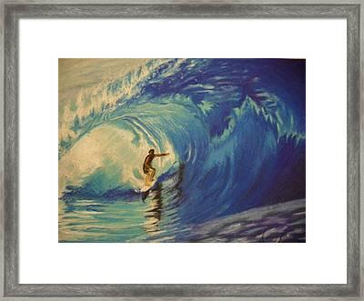 Surfer Framed Print by Agnes V