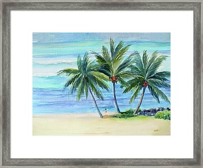 Surfer At Waikiki Framed Print
