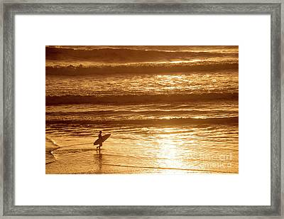 Surfer Framed Print by Delphimages Photo Creations
