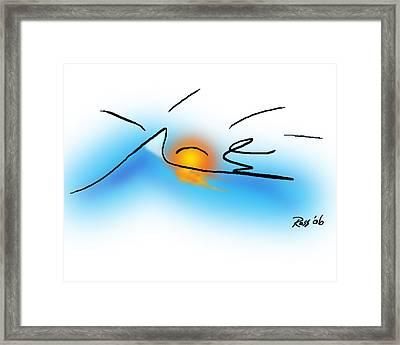 Surfer Dude Framed Print by Ross Powell