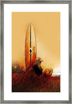Surfer Girl 188 Framed Print by Vjkelly Artwork