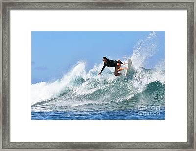Surfer Girl At Bowls 5 Framed Print