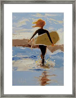 Surfer Girl Framed Print by Barbara Andolsek