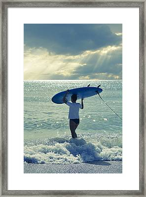 Surfer Girl Framed Print by Laura Fasulo