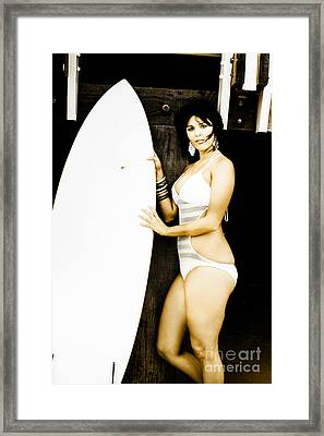 Surfer Lifestyle Framed Print by Jorgo Photography - Wall Art Gallery