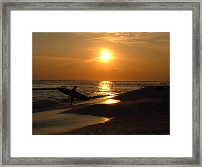 Surfer Framed Print by Navarre Photos