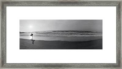 Surfer, San Diego, California, Usa Framed Print by Panoramic Images