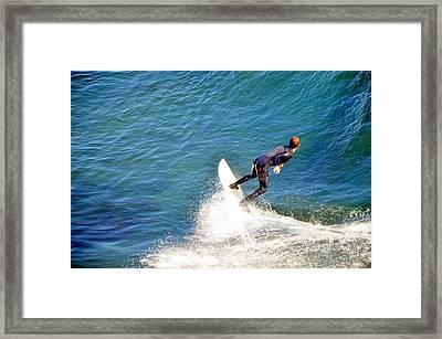 Surfer, Steamer Lane, Santa Cruz, Series 19 Framed Print by Antonia Citrino