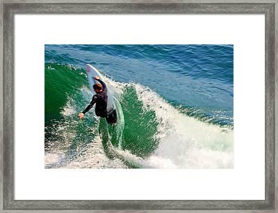 Surfer, Steamer Lane, Series 18 Framed Print by Antonia Citrino