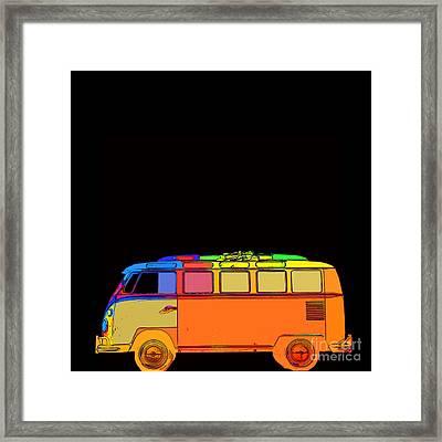 Surfer Van Framed Print by Edward Fielding