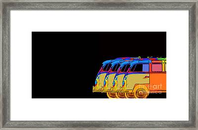 Surfer Vans 7 Framed Print by Edward Fielding