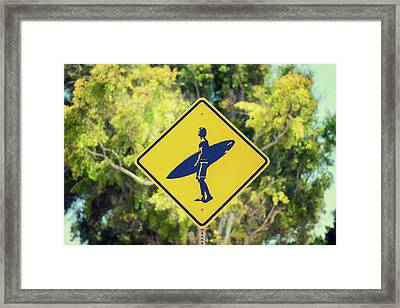Surfer Xing 1 Framed Print by Joseph S Giacalone