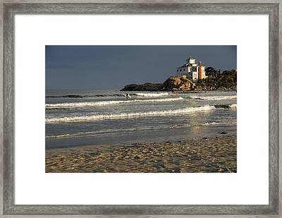 Surfers At Good Harbor Framed Print