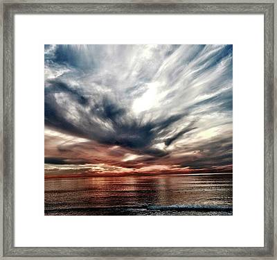 Surfers At Sunset Framed Print