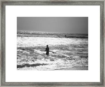 Surfers Framed Print by Utopia Concepts