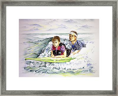 Surfers Healing Framed Print