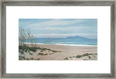 Surfers Knoll Anacapa View #5 Framed Print by Tina Obrien