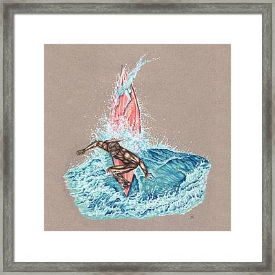 Surfer's Lover Framed Print