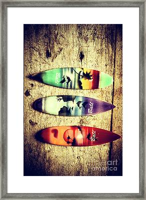 Surfers Parade Framed Print