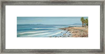 Surfers Point The Cove Framed Print by Tina Obrien
