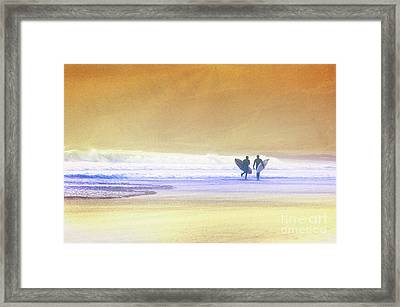 Framed Print featuring the photograph Surfers by Scott Kemper