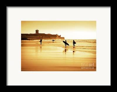 Surfers Framed Prints