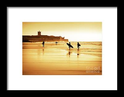 Surfers Framed Prints