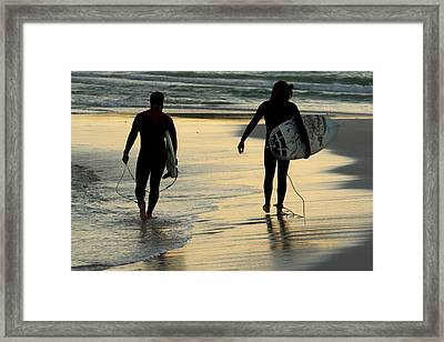 Surfers  Framed Print by Stelios Kleanthous