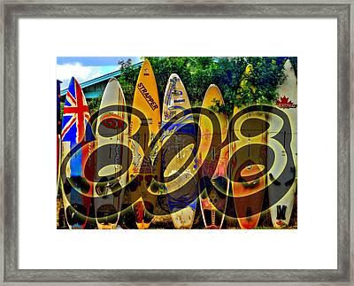 Surfin' 808 Framed Print by DJ Florek