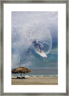 Surfin The Sky 01 Framed Print