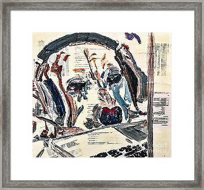 Surfin The Web Framed Print