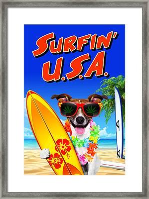 Surfin' U.s.a. Framed Print