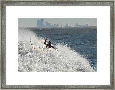 Surfinf 94 Framed Print by Joyce StJames