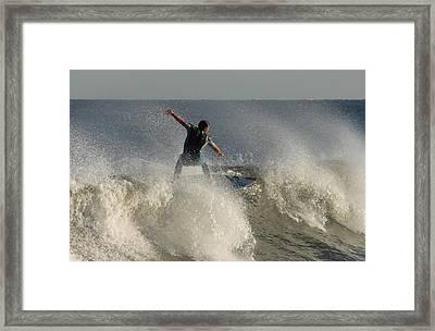 Surfing 122 Framed Print by Joyce StJames