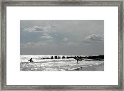 Surfing 179 Framed Print by Joyce StJames