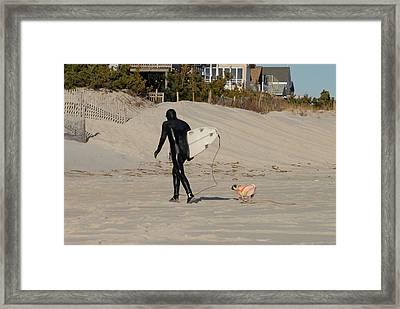 Surfing 49 Framed Print by Joyce StJames