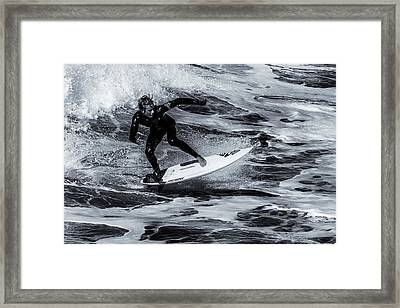 Surfing Air Framed Print