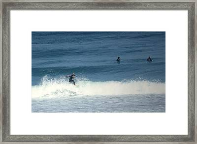 Surfing Carmel Beach Two Framed Print by Joyce Dickens
