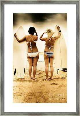 Surfing Forecast Framed Print by Jorgo Photography - Wall Art Gallery