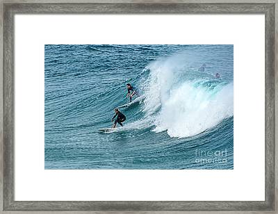 Surfing Fun By Kaye Menner Framed Print by Kaye Menner