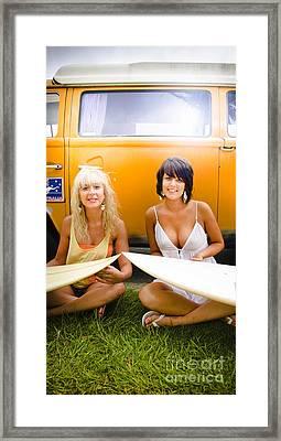Surfing Holiday Framed Print