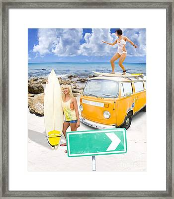 Surfing Holiday This Way Framed Print by Jorgo Photography - Wall Art Gallery