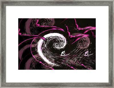 Surfing In The Dark Framed Print by Joyce Dickens