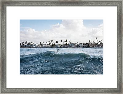 Surfing In The Usa Framed Print