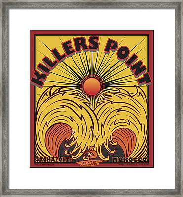 Surfing Killers Point Morocco Framed Print by Larry Butterworth