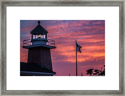 Surfing Museum Full Color  Framed Print by Lora Lee Chapman